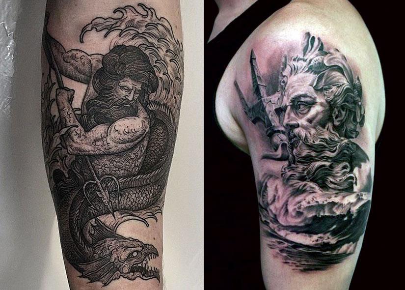 Татуировка на пояснице и выглядывающие трусики