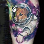 Тату собака космонавт