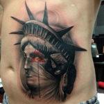 Татуировка головы статуи свободу, абстракция