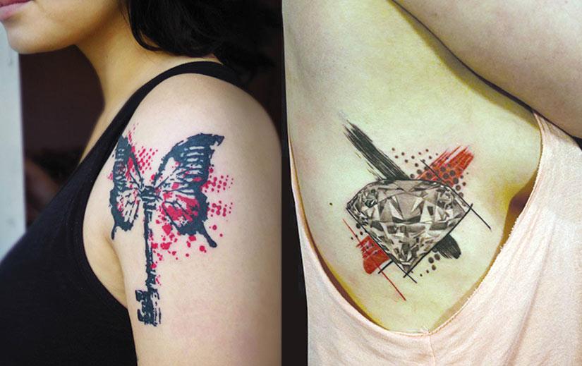 Тату треш женская татуировка