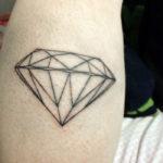 татуировка алмаза, контур