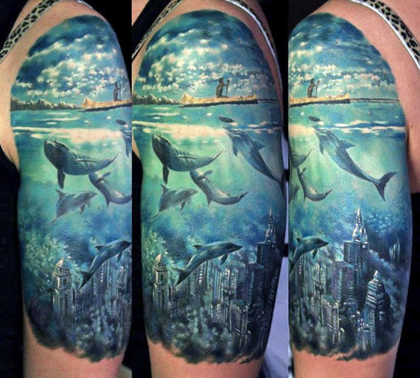 Татуировка дельфин