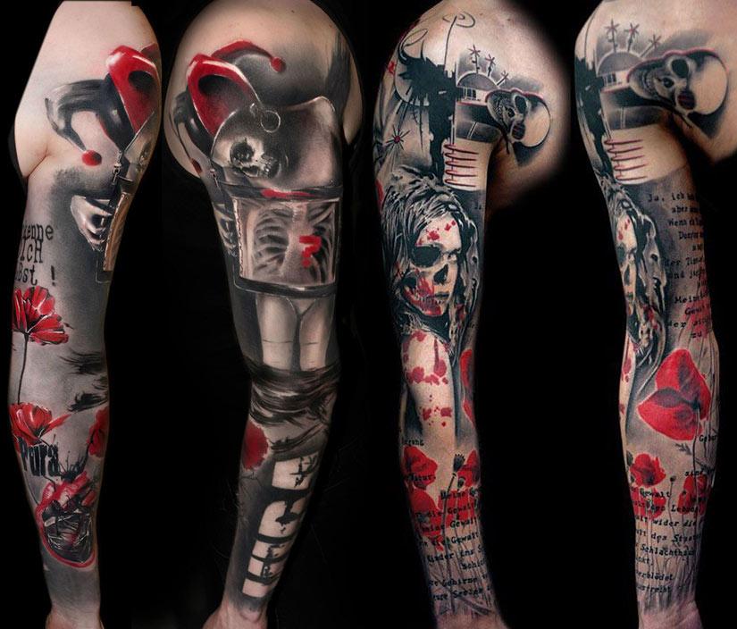 Татуировка треш полка рукав