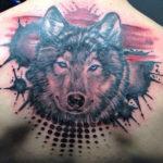 Тату треш полька с волком