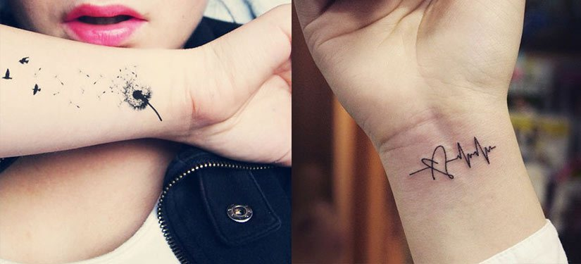 Татуировки на запястье у девушек