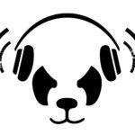 Панда в наушниках, минимализм