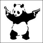 Панда мафия, с пистолетами