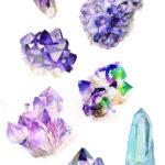 Различные варианты кристаллов аметистов