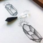 Эскиз с кристаллами, минимализм