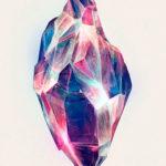 Эскиз тату с красивым кристаллом