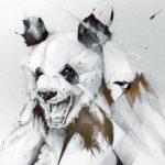 Эскиз тату панды