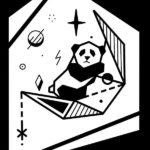 Минимализ, панда на луне