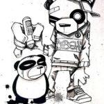 Интересный эскиз с пандами