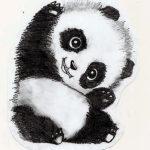 Эскиз татуировки малыш панды