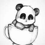 Маленькая панда в чашке