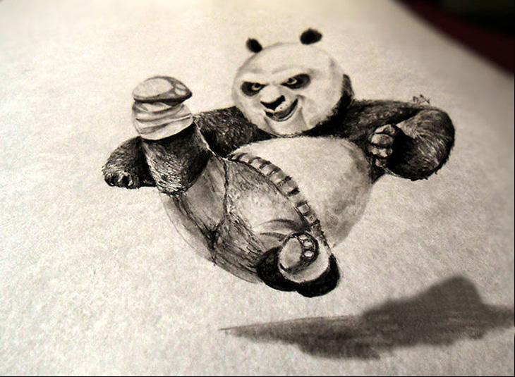 Эскиз тату Кунг-фу панда