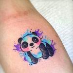 Тату панды, акварель
