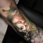 Реализм, тату панда