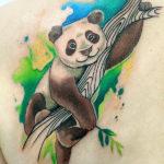 Панда в стиле акварель