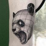 Тату голова панды