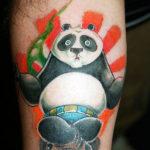 Татуировка конгфу панды