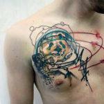 Татуировка панды космонавта, панда в скафандре