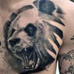 Мужская татуировка панды