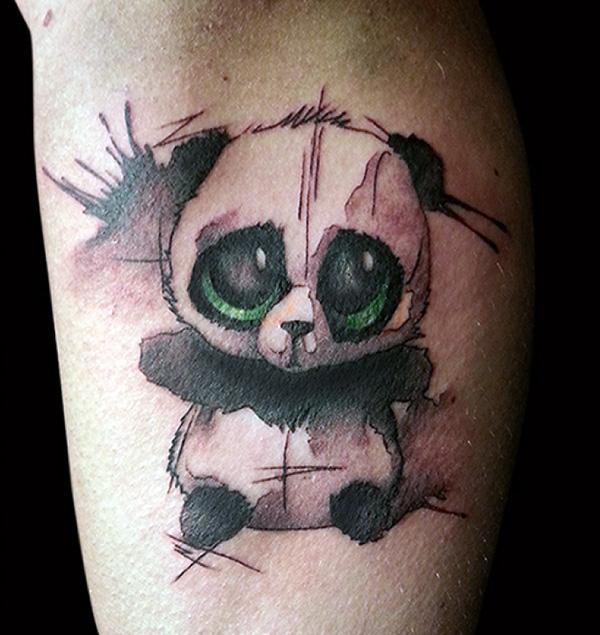 Татуировки с детёнышем панды