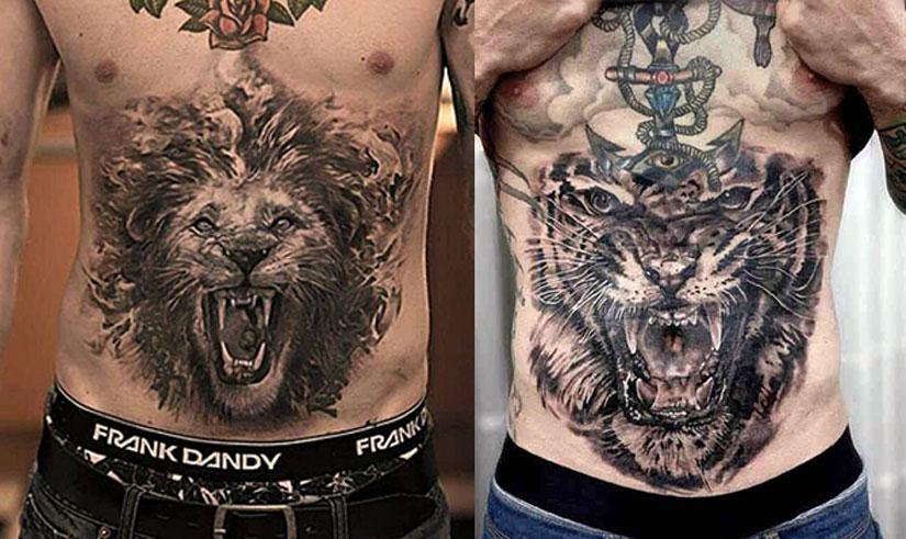 Татуировки с львом и тигром