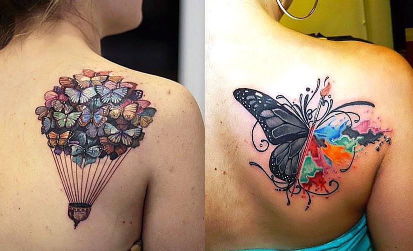 Красивые женские татуировки с бабочками