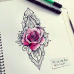 Двухцветный эскиз цветка