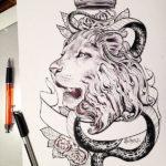 Лев с короной и змеей