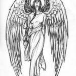 Эскиз девушки ангела