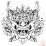Морда дракона в японском стиле