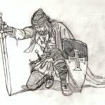 Воин с мечем и щитом