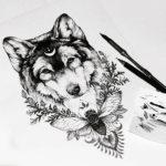 Волк с мандалой и шмелем