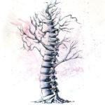 Позвонок в виде дерева