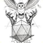Сова, графика с геометрией