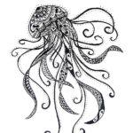 Изящная медуза в виде узоров