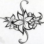 Женский эскиз цветов