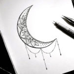 Луна с узором