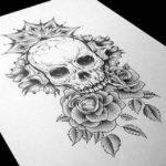 Розы и череп