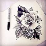 Женский эскиз розы
