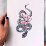 Змея с лотосом