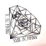 Бриллиант с розой внутри