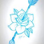 Роза проткнутая стрелой