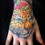 Цветная тату пантеры