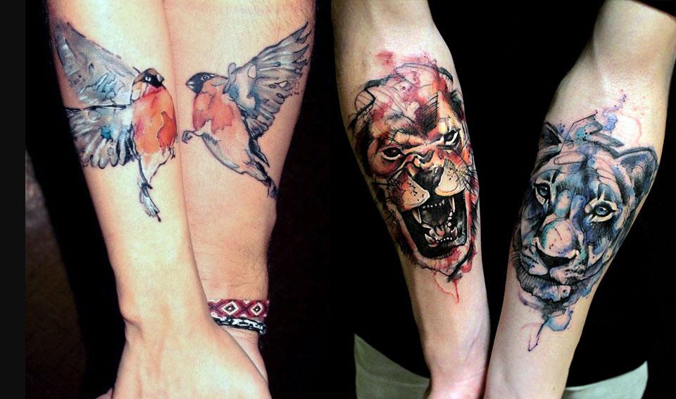 Парные татуировки на предплечье