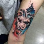 Лев в абстрактном стиле