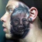 Тату ребенка на лице